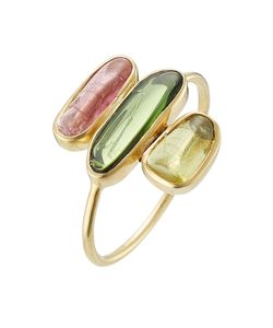 PIPPA SMALL | 18kt Gold Ring With Tourmaline Stones Gr. 52