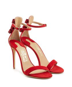 Salvatore Ferragamo | Angie Suede Stiletto Sandals Gr. Us 8