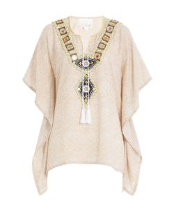 Gooshwa | Embellished Cotton Caftan Gr. S