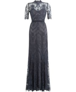 Catherine Deane | Floor-Length Gown With Lace Overlay Gr. Uk 8
