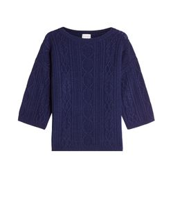 Claudia Schiffer for TSE | Cable Knit Pullover In Wool And Cashmere Gr. L