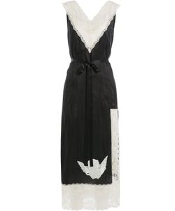 Marc Jacobs | Satin Dress With Lace And Embroidery Gr. Us 8