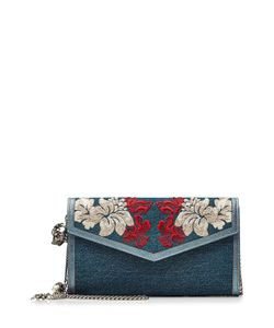 Alexander McQueen | Embroidered Denim Shoulder Bag Gr. One Size