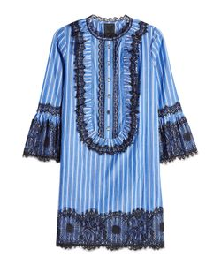 Anna Sui | Striped Dress With Lace Detail Gr. Us 2
