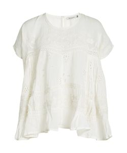 Mes Demoiselles | Embroidered Cotton Top Gr. Fr 36
