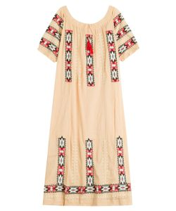 Blue Hippy | Embroidered Cotton Dress Gr. One Size
