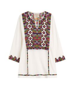 Blue Hippy | Embroidered Cotton Tunic Gr. One Size