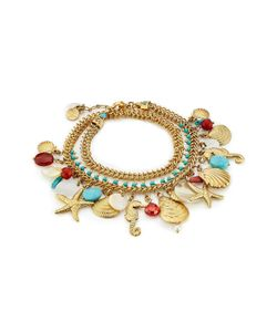GAS BIJOUX | Searene 24kplated Charm Bracelet Gr. One