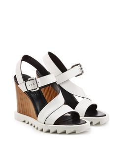Jil Sander | Leather Wedge Sandals With Lug Sole Gr. It 36