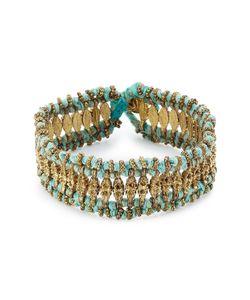 Blue Hippy | Embellished Fabric Bracelet Gr. One Size