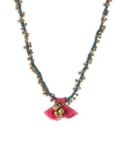 Blue Hippy | Embellished Necklace With Tassel Gr. One Size