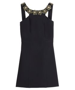 Fendi | Floral Embellished Crepe Sable Dress Gr. It 38