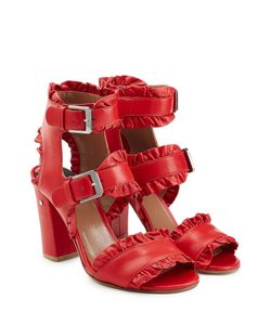 Laurence Dacade | Ruffled Leather Sandals Gr. It 36