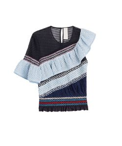 Peter Pilotto | Cotton Blend Top With Ruffle Gr. Uk 8