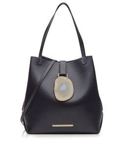 Roland Mouret | Leather Tote With Geode Closure Gr. One Size