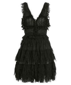 Alexander McQueen | V-Neck Ruffle Mini-Dress Gr. S