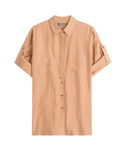 Alberta Ferretti | Cuffed Silk Shirt Gr. It 38