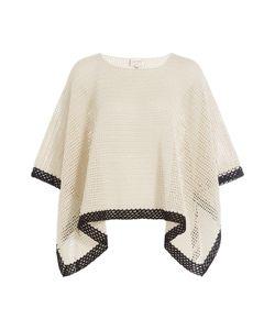 ZEUS + DIONE   Knit Cotton Poncho Gr. Fr 38
