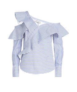 SELF-PORTRAIT | Striped Cotton Shirt Gr. Uk 4