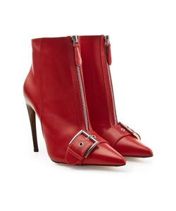 Alexander McQueen | Leather Ankle Boots Gr. It 40