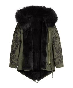 BARBED | Cotton Parka With Raccoon Fur Gr. L