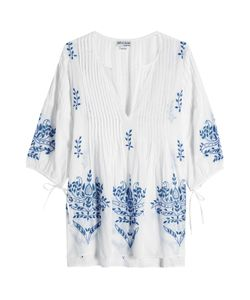 Juliet Dunn | Embroidered Cotton Tunic Gr. One Size