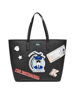 Karl Lagerfeld | Fly With Karl Printed Shopper Gr. One
