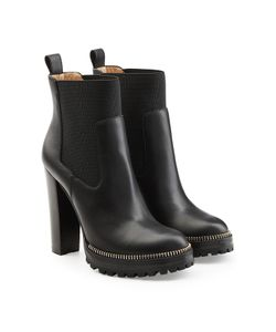 Sergio Rossi | Leather Ankle Boots Gr. It 39