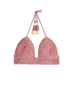 SHE MADE ME | Crochet Bikini Top With Tassels Gr. M/L