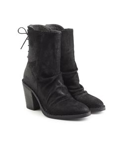 Fiorentini+Baker | Suede Ankle Boots With Lace-Up Back Gr. It 40