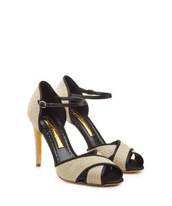Rupert Sanderson | Stiletto Sandals With Raffia Gr. It 37