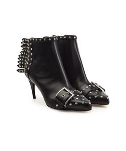 Alexander McQueen | Embellished Leather Ankle Boots Gr. It 38