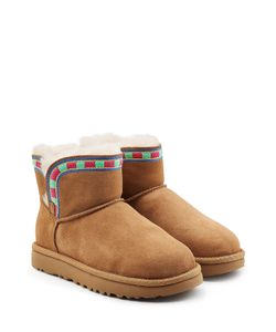 UGG Australia   Rosamaria Embroidered Mini Suede Boots Gr. Us 10