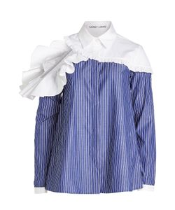 Sandy Liang | Cotton Shirt With Ruffle Trims And Cut-Out Back Gr. Fr 38