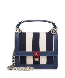 Fendi | Mini Kan I Shoulder Bag With Canvas And Leather Gr. One