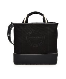 Sonia Rykiel   Printed Canvas Tote With Leather Gr. One Size