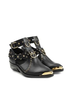 Balmain | Leather Ankle Boots Gr. Fr 36