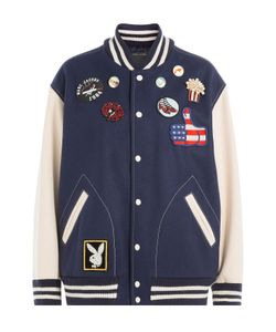 Marc Jacobs | Wool Blend Bomber Jacket With Patches Gr. S