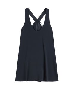 Helmut Lang | Crepe Top With Asymmetric Hem Gr. S