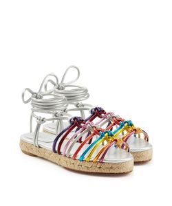 Chloe | Metallic Leather Braided Sandals Gr. It 36
