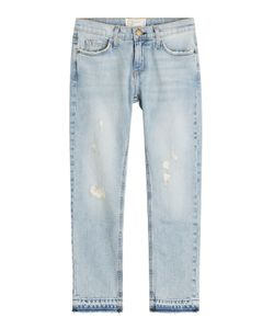 Current/Elliott | The Cropped Straight Leg Jeans Gr. 25
