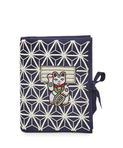 Olympia Le-Tan | Manekineko Embellished Fabric Clutch Gr. One Size