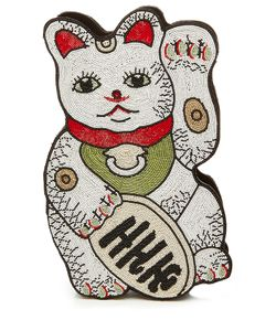 Olympia Le-Tan | Manekineko Embellished Clutch Gr. One Size