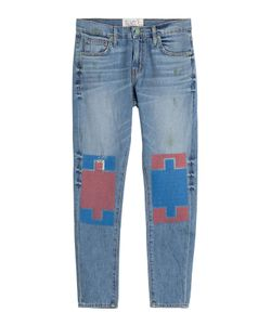 Sandrine Rose | Straight Leg Jeans With Contrast Knee Patches Gr. 30