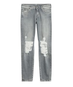 7 for all mankind | Distressed Skinny Jeans Gr. 30