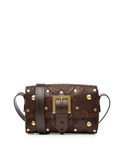 Valentino | Hand Tooled Leather Shoulder Bag With Embellishment Gr. One Size