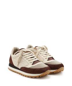 Brunello Cucinelli | Suede And Fabric Sneakers Gr. It 36