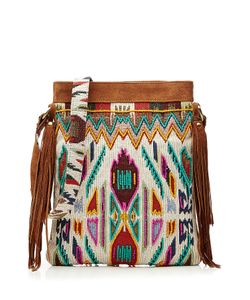Christophe Sauvat | Tippi Embroidered Shoulder Bag With Suede Gr. One Size