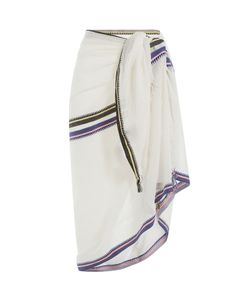 Christophe Sauvat | Cotton Wrap With Striped Trim Gr. One Size