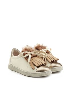Brunello Cucinelli | Leather Sneakers With Fur Gr. It 36